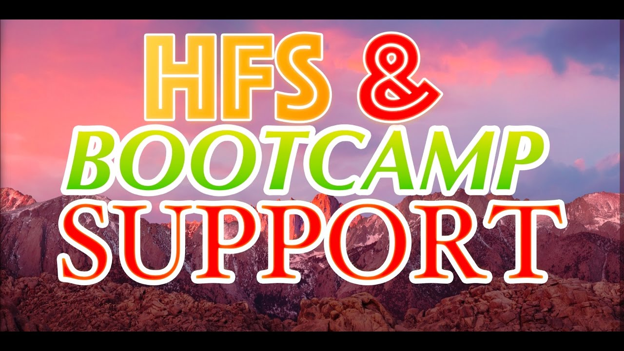 BOOTCAMP HFS WINDOWS 7 DRIVERS DOWNLOAD (2019)