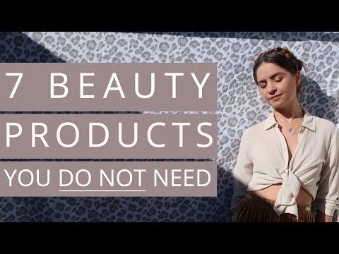 7 BEAUTY PRODUCTS YOU DO NOT NEED | Minimalism and Decluttering Makeup + Hair
