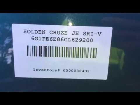 Разборка Chevrolet Cruze 1.4 A14NET (VIN: 6G1PE6E86CL629200) J5721