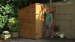 Shed-plus Overlap Dip Treated Pent Sheds