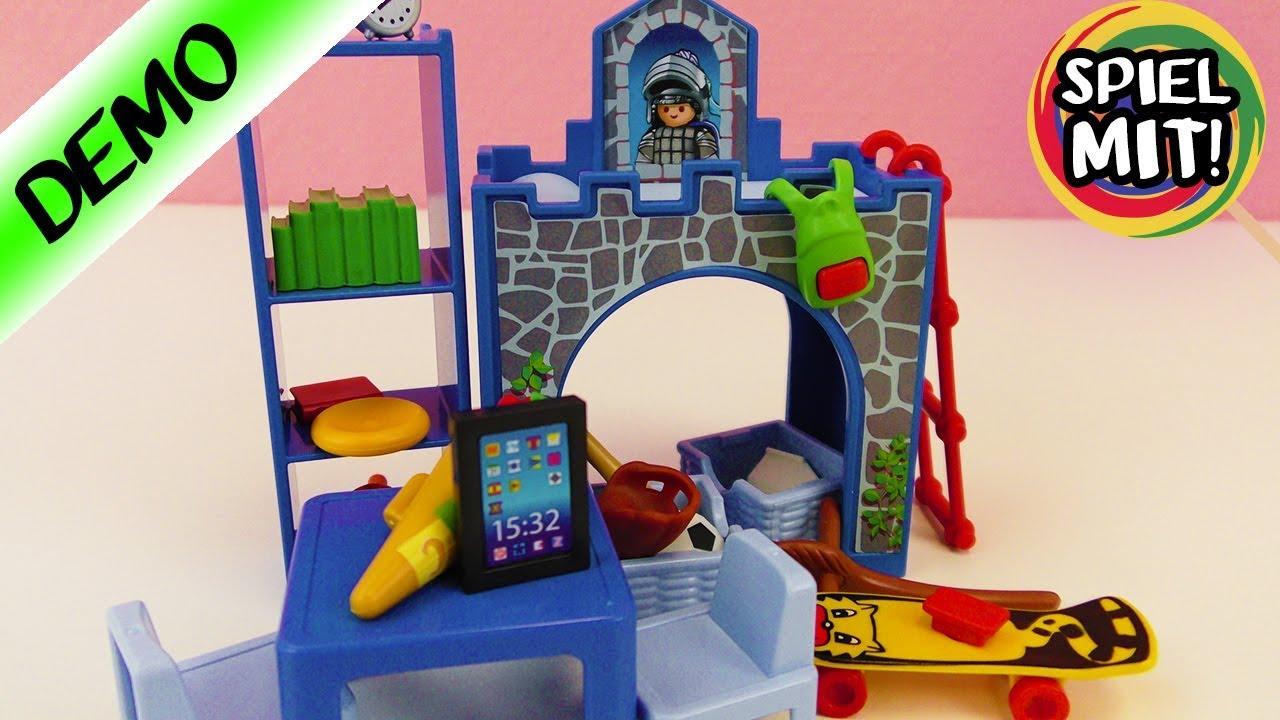 Playmobil KINDERZIMMER MIT BURG BETT Mit Tablet Und Schultute Auspacken Aufbauen Demo