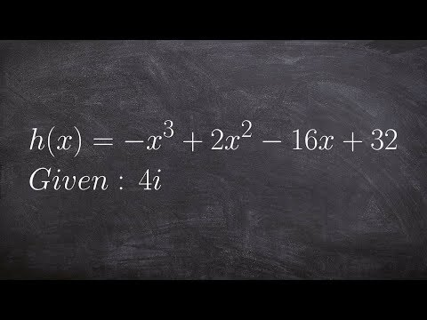 Given A Complex Zero Find The Remaining Zeros Using Long Division
