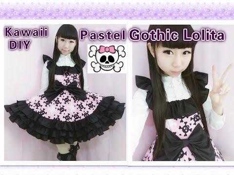 Easy Kawaii DIY - How To Make Pastel Gothic Lolita Dress(make Ruffles On The Dress)