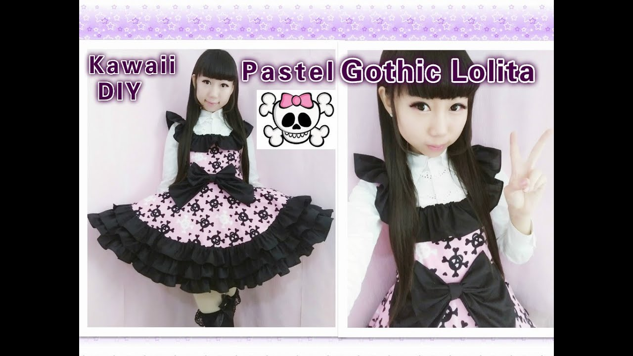 Purple Bedroom Ideas For Adults Easy Kawaii Diy How To Make Pastel Gothic Lolita Dress