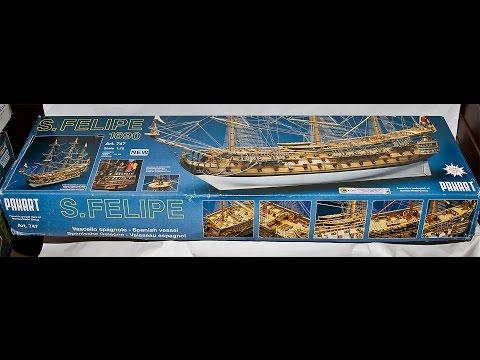 Mantua - Panart San Felipe 1690  1:75 Wooden Scale Model Kit