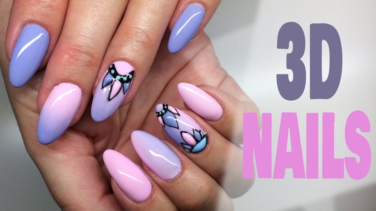 3d Nails Zdobienia Strukturalne My Wonderland Youtube