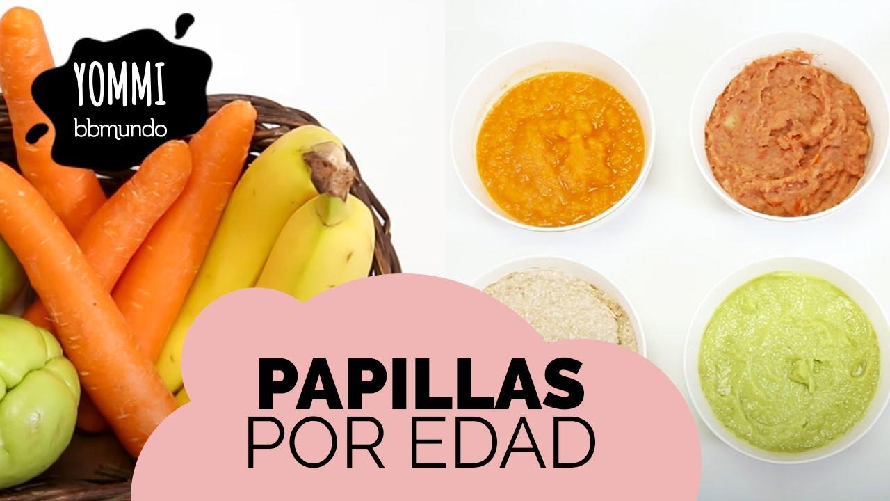 Recetas de papillas f ciles deliciosas y nutritivas para beb s por edad 6 8 y 12 meses youtube - Papillas para bebes de 6 meses ...