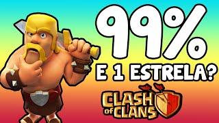 Clash Of Clans | ATAQUE 99% E 1 ESTRELA? Foi por muito pouco!