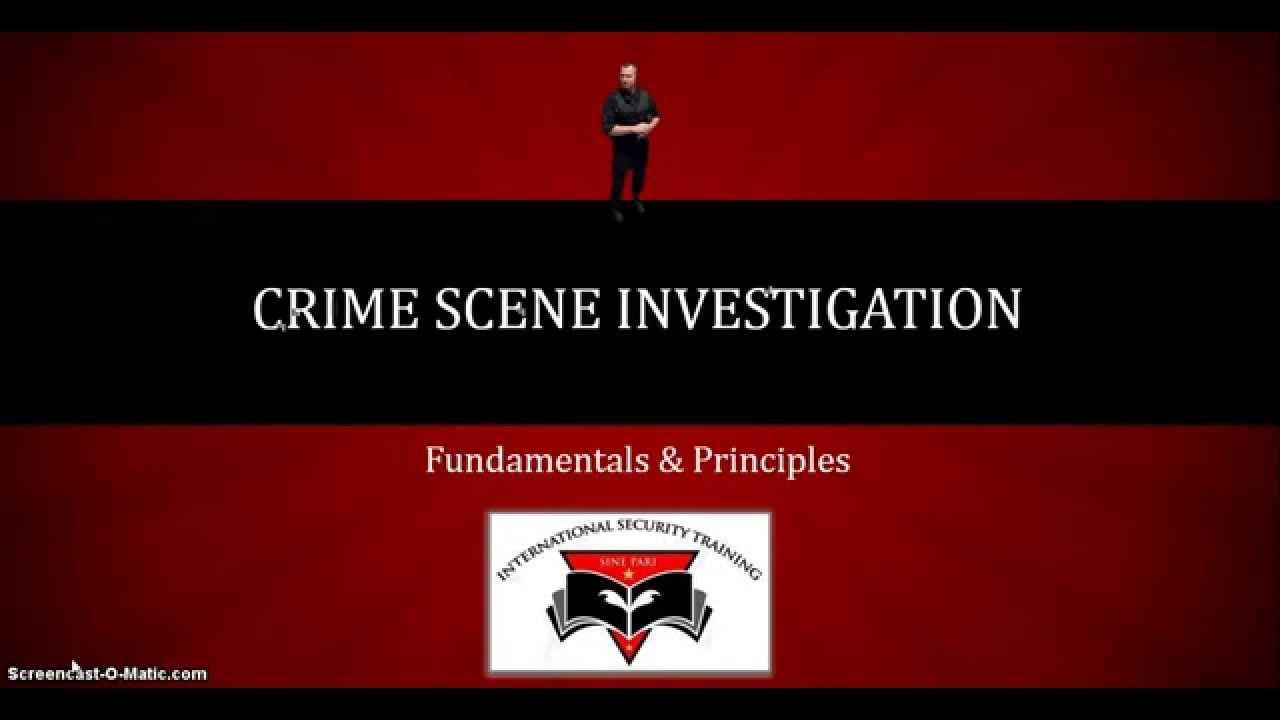 Csi Certification Online Crime Scene Investigation Course