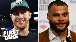 Carson Wentz's contract extension means Dak Prescott should get paid - Stephen A. | First Take