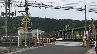 近鉄大阪線 名張 踏切変な塗装警報機 カラシ色