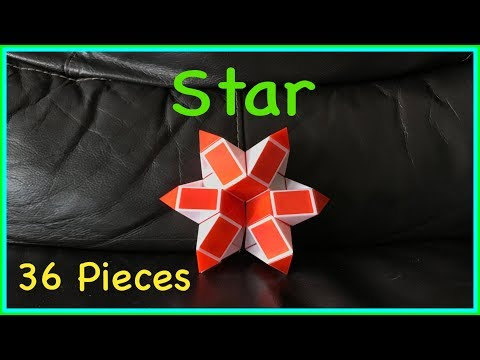 Rubik's Twist 36 Or Snake Puzzle 36 Tutorial: How To Make A Star Or Flower Shape Step By Step