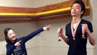 本田真凜が田村岳斗コーチに戦勝報告。仲良すぎ!! 田村ヤマ子 検索動画 25