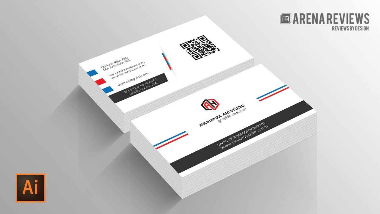 How to design business card template illustrator cc tutorial youtube how to design business card template illustrator cc tutorial fbccfo Images