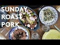 SUNDAY PORK ROAST AND SIDES RECIPES (Shopping and preparing the perfect family lunch)