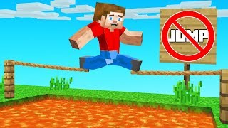 You JUMP You LOSE Challenge! (Minecraft)