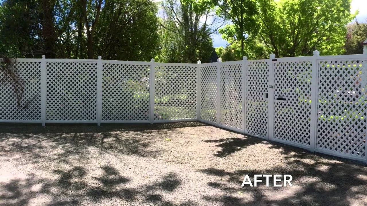 Fence Painting Amp Staining Before And After Youtube