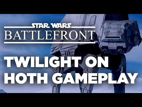 Twilight on Hoth Walker Assault - Star Wars Battlefront Gameplay
