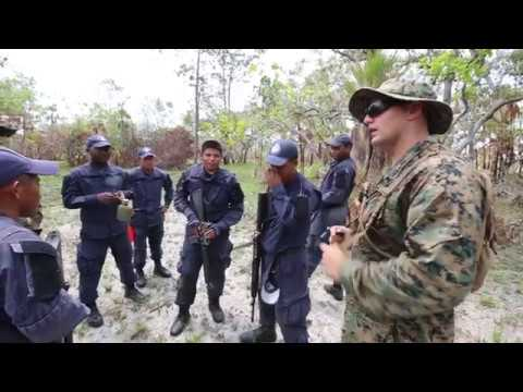 U.S. Marines train Belize coast guardsmen