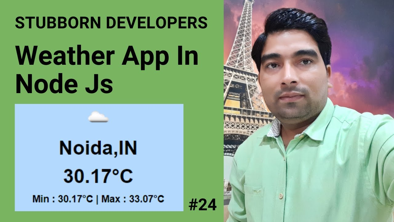 Create Weather App in Node.js | Use Weather API in Node JS