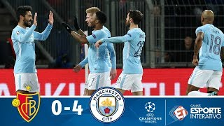 Melhores Momentos - Basel 0 x 4 Manchester City - Champions League (13/02/2018)