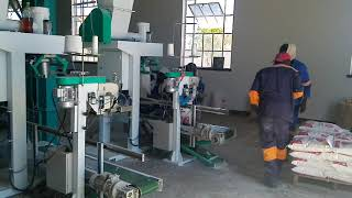 90T corn flour mill machine running in Zimbabwe