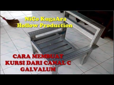 Cara Membuat Kursi Canal C Galvalum Part 2