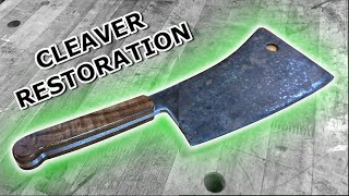 Rusty Antique Meat Cleaver Restoration - TRASH TO TREASURE