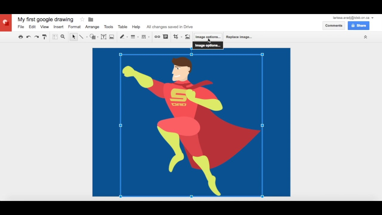 Google Drawings 101 - All About Images! - YouTube