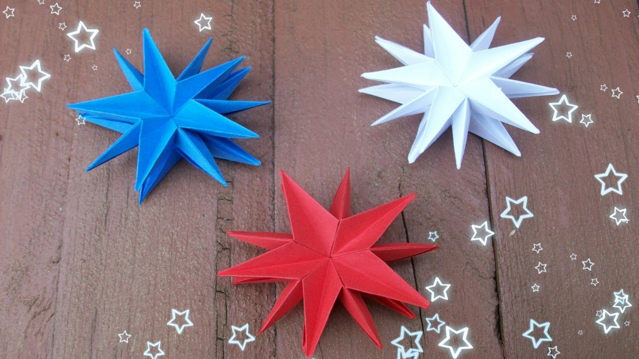 Diy christmas craft ideas easy paper stars party for Easy paper christmas decorations to make at home