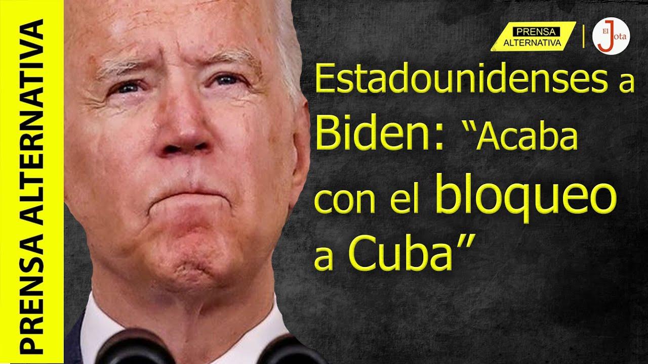 En su cara: Multitudes arrinconan a Biden y piden fin de criminal bloqueo!