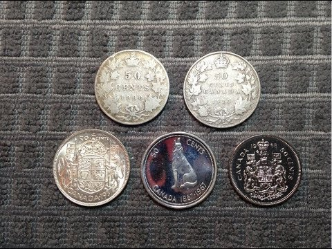 Canadian 50 Cent Coins