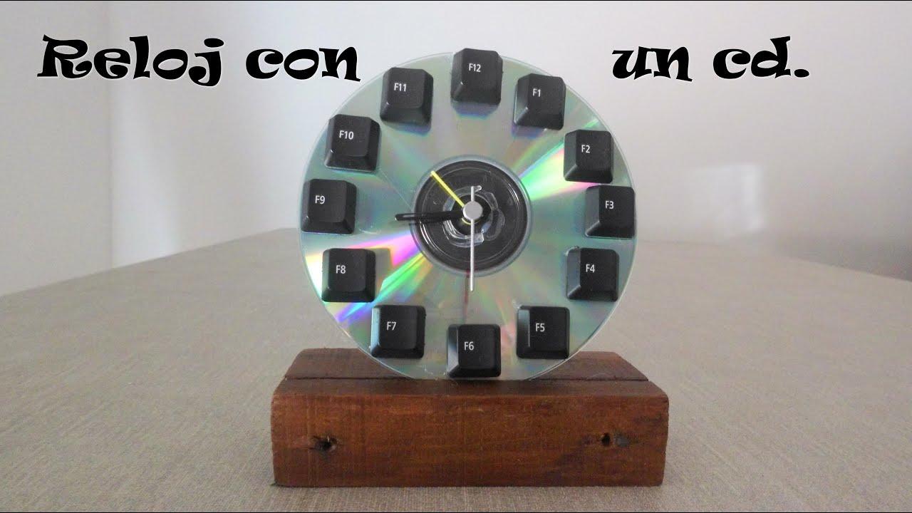 Hacer un reloj con un cd make a clock with a cd youtube - Hacer reloj de pared con fotos ...