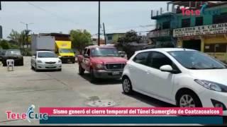 Sismo generó el cierre temporal del Túnel Sumergido de Coatzacoalcos