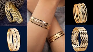 New light weight gold bangle design /daily wear gold bangle set design