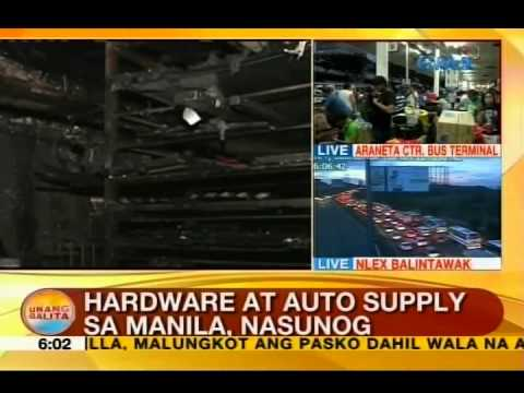 UB: Hardware at auto supply sa Manila, nasunog