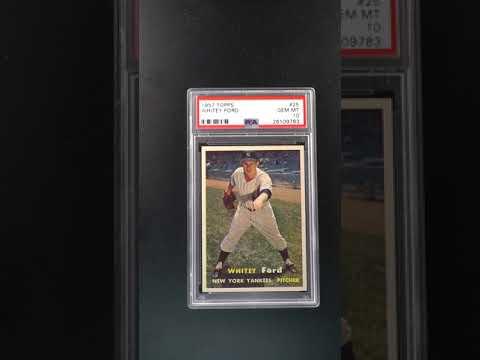 New York Yankees 1957 Topps #25 Whitey Ford Reprint MINT