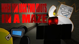 ROBLOX- Identity Fraud: When You Lock 2 Idiots In A Maze