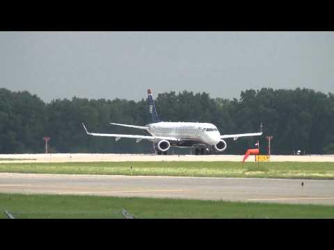 US Airways Embraer ERJ-190-100IGW Takeoff 17 [N947UW] Minneapolis International