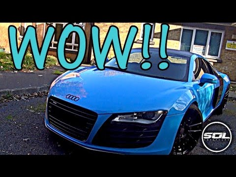 MY NEW WRAP: Baby Blue Audi R8 LAUNCH! - YouTube