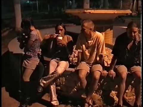 CA2003-16. Having fun with local girls, Leon, Nicaragua