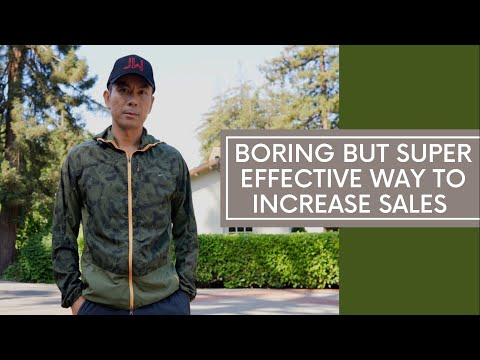Boring But Super Effective Way To Increase Sales