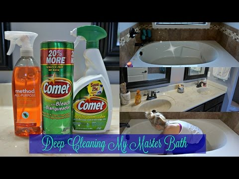 DEEP CLEANING My Master Bathroom~ Bathroom Cleaning Routine~Watch Me Clean Wednesday