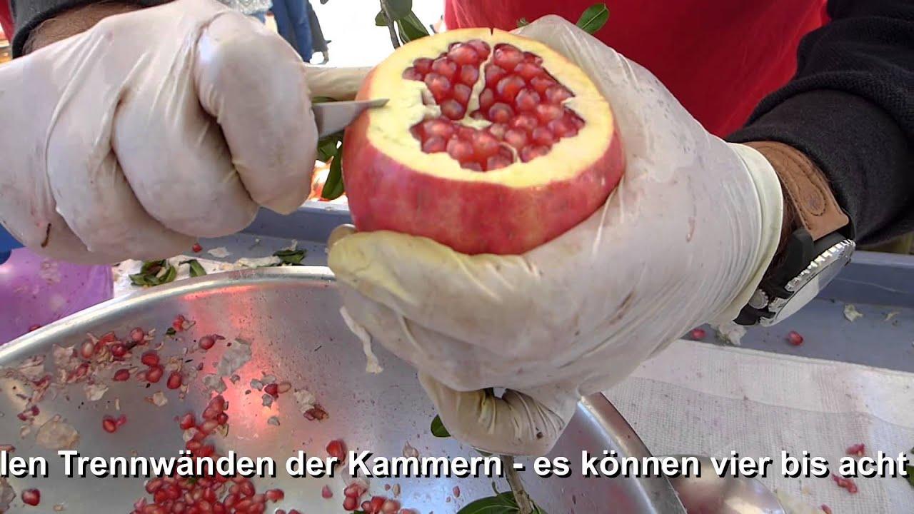 wie öffnet man einen granatapfel