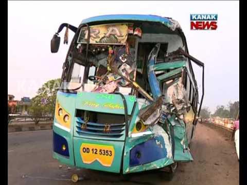25 Injured : Bus Accident Bhubaneswar