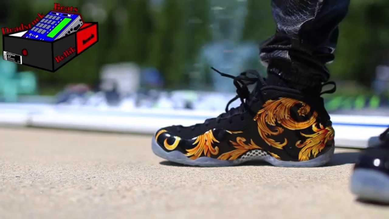 Nike X Supreme Foamposite One Black On Feet - YouTube 9a9c85a71