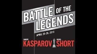 Battle of the Legends: Kasparov vs. Short, Day 1 - 04.25.15