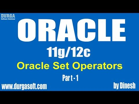 Oracle || Oracle Set Operators Part-1 By Dinesh