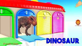 Learn Wild Animals Names and Sounds - Learn Colors Animals Outdoor Playground For Kids