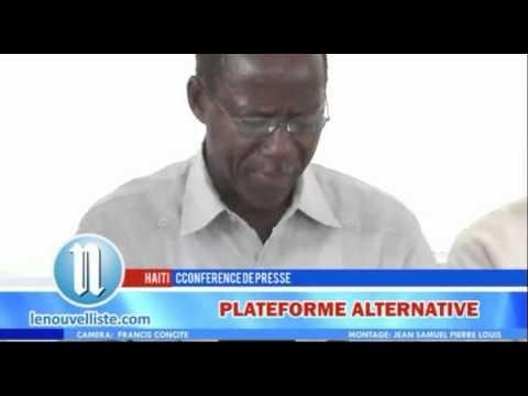PLATEFORME ALTERNATIVE CONFERENCE DE PRESSE